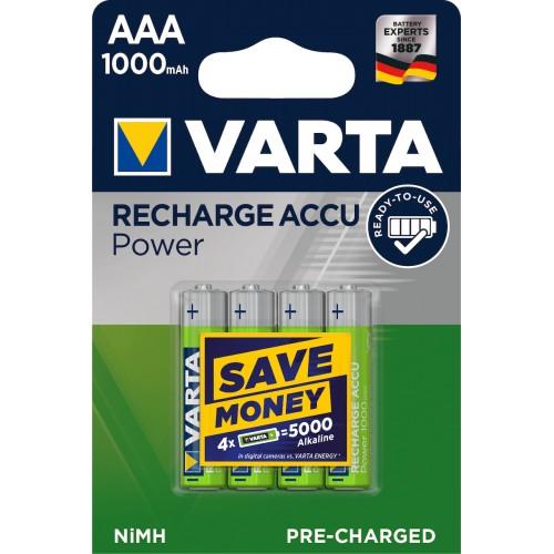 Varta Recharge Accu Power AAA 1000mAh (4τμχ)