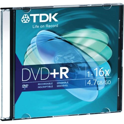 TDK DVD+R 16x 4.7GB Jewel Case