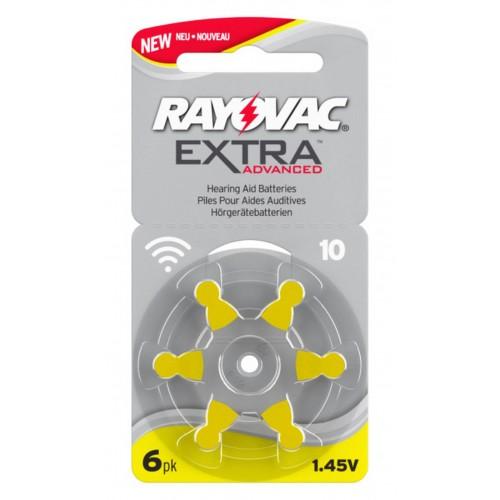 RAYOVAC Batterie Zinc Air 10 1.4V Extra Advanced PR70 6 pcs