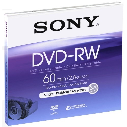 SONY DVD-RW 8cm 60Min/2x Jewelcase (1 Disc)
