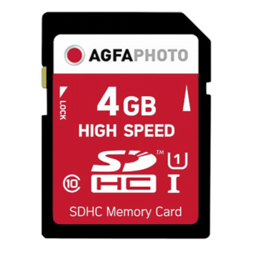 AgfaPhoto SDHC 4GB High Speed C10 UHS-1