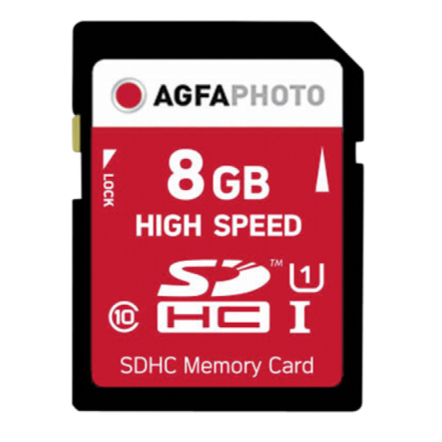 AgfaPhoto SDHC 8GB High Speed C10 UHS-1