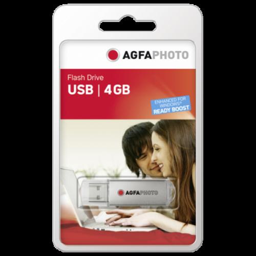 AgfaPhoto USB 2.0 4GB silver