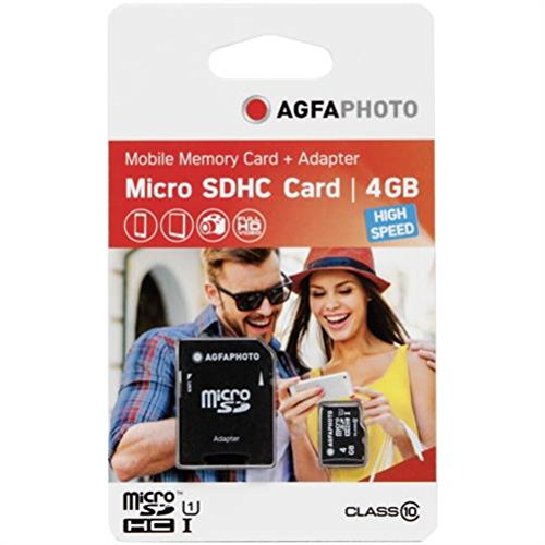 AgfaPhoto MicroSDHC 4GB High Speed C10 UHS-1