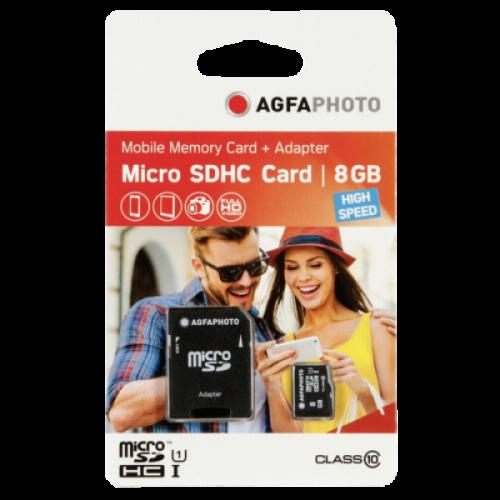AgfaPhoto MicroSDHC 8GB High Speed C10 UHS-1