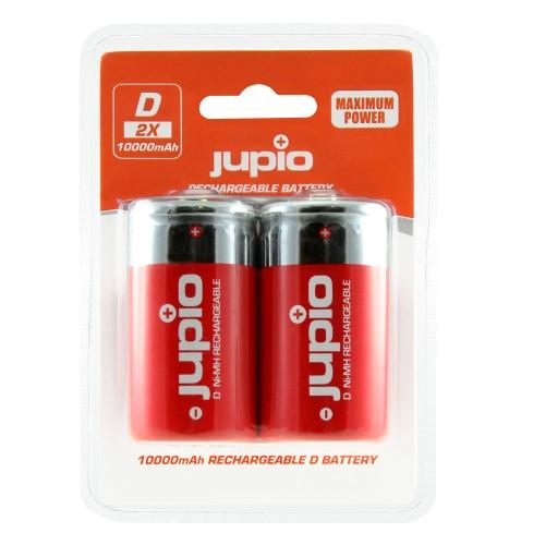 Jupio Rechargeable Batteries D LR20 10.000mAh (2τμχ)