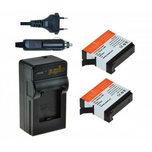 Jupio 2x Battery AHDBT-401 for GoPro Hero 4 +Charger