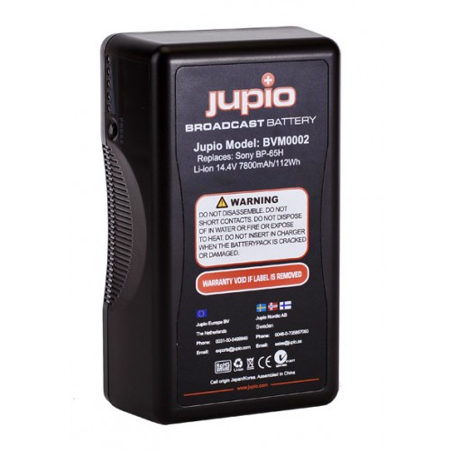 Jupio Μπαταρία V-Mount Led για Sony BP-65H 14.4V-7.8Ah/112Wh BVM0002