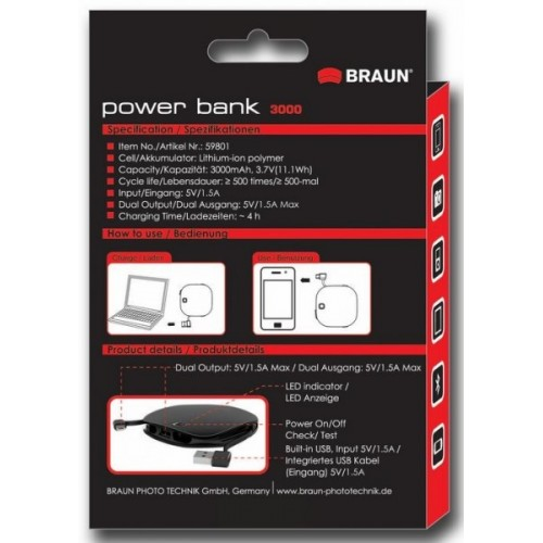 Braun Power bank 3000