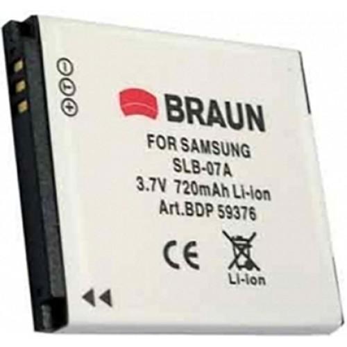 Braun Μπαταρία SLB-07A για Samsung 720mAh